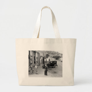 Child s Play in Wisconsin 1930s Canvas Bags