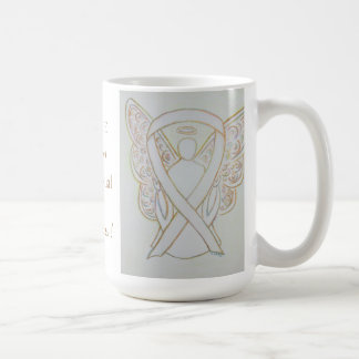 Child Sexual Abuse Awareness White Ribbon Mug