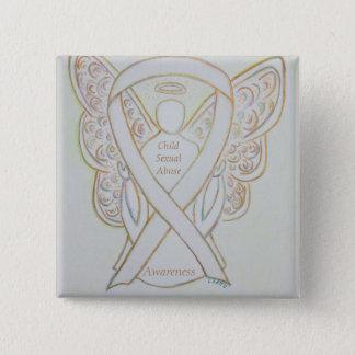 Child Sexual Abuse Awareness White Ribbon Pin