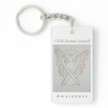 Child Sexual Assault Awareness Ribbon Keychain