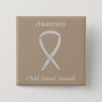 Child Sexual Assault Awareness White Ribbon Pin
