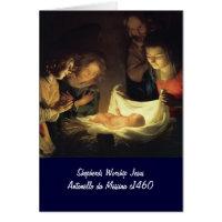 Child Shepherds Worship Jesus Cards