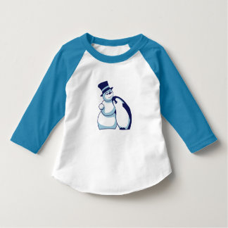 Child shirt penguin and Schneemann