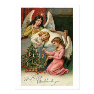Child Sleeping with Angels Post Card