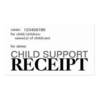 Child Support Receipt Cards