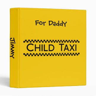 Child Taxi Funny Design for Driving Fathers/Moms Binder