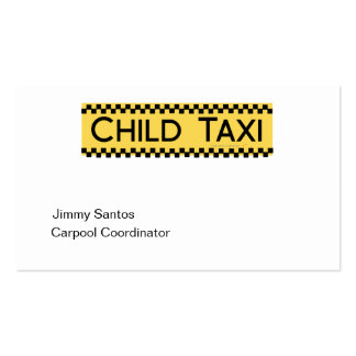 Child Taxi Funny Design for Driving Fathers/Moms Double-Sided Standard Business Cards (Pack Of 100)