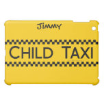 Child Taxi Funny Design for Driving Fathers/Moms iPad Mini Cover