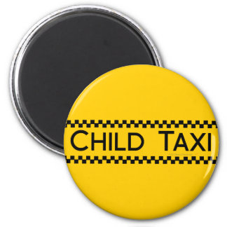 Child Taxi Funny Design for Driving Fathers/Moms Fridge Magnets