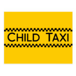Child Taxi Funny Design for Driving Fathers/Moms Postcards