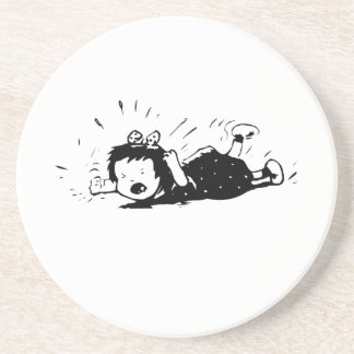 Child Throwing a Temper Tantrum Drink Coasters