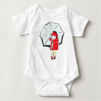 Child Under Umbrella Baby Bodysuit