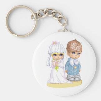 Child Wedding Dress Up Second Design Keychain