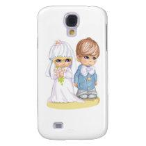 Child Wedding Dress Up Second Design Samsung Galaxy S4 Cover