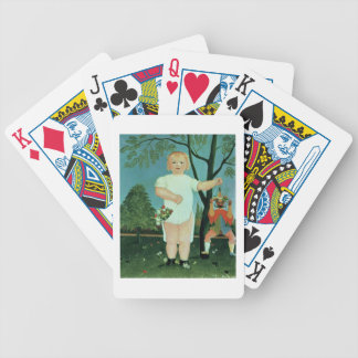 Child with a Puppet, c.1903 (oil on canvas) Bicycle Playing Cards