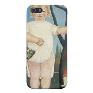 Child with a Puppet  - Henri Rousseau Cover For iPhone SE/5/5s