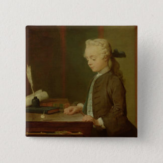 Child with a Teetotum, 1738 Pinback Button
