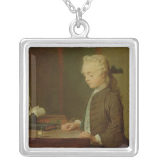 Child with a Teetotum, 1738 Silver Plated Necklace