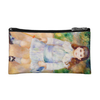 Child with a Whip Pierre Auguste Renoir painting Cosmetic Bag
