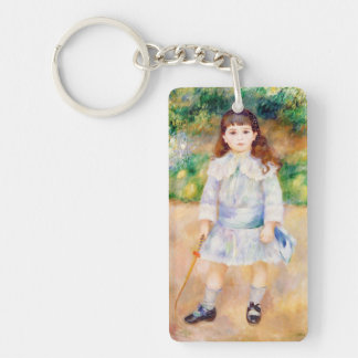 Child with a Whip Pierre Auguste Renoir painting Keychain
