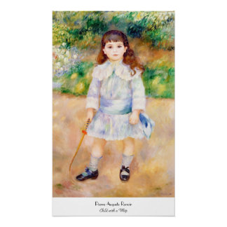 Child with a Whip Pierre Auguste Renoir painting Poster