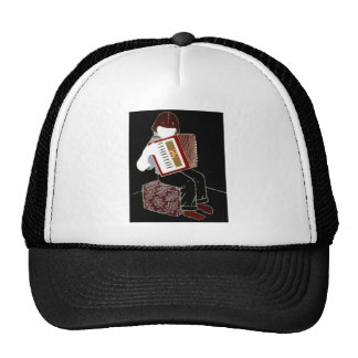 Child with Accordion Trucker Hat