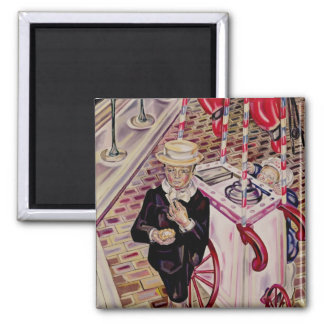 Child with an Ice Cream 2 Inch Square Magnet
