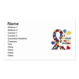 Child With Autism Awareness Ribbon Business Card