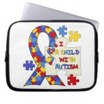 Child With Autism Awareness Ribbon Laptop Sleeves