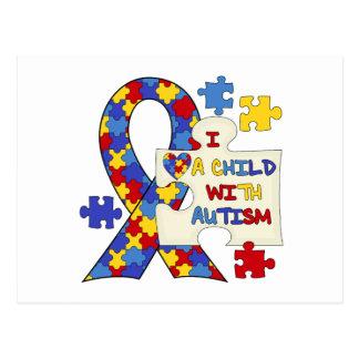Child With Autism Awareness Ribbon Postcard