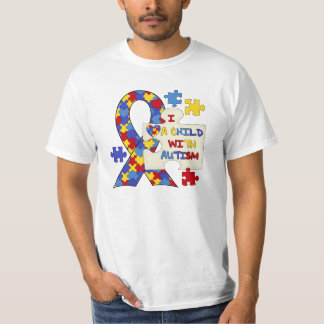 Child With Autism Awareness Ribbon T-Shirt