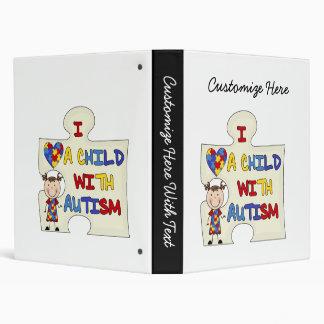 Child WIth Autism Brunette Girl 2 Binder