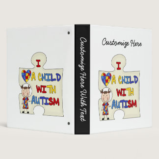 Child WIth Autism Brunette Girl 2 Binder