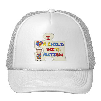 Child WIth Autism Brunette Girl 2 Mesh Hat