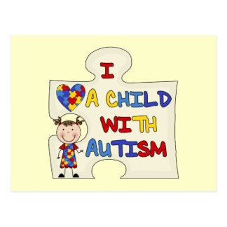 Child WIth Autism Brunette Girl 2 Postcard