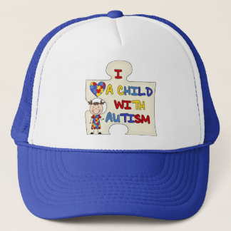 Child WIth Autism Brunette Girl 2 Trucker Hat