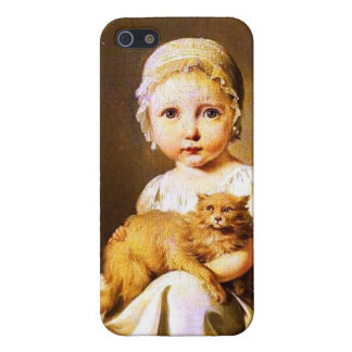 Child with Cat Case For iPhone SE/5/5s
