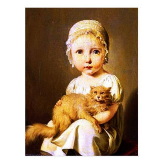 Child with Cat Postcard