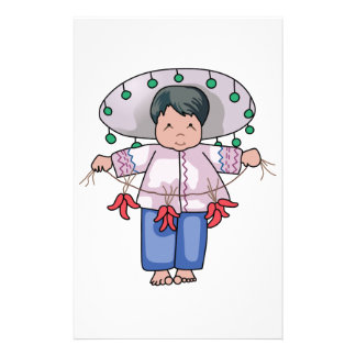 CHILD WITH CHILI PEPPERS STATIONERY PAPER