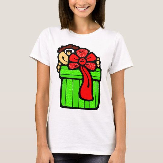 Child with Christmas Present T-Shirt