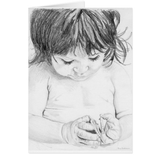 Child with Cookie Greeting Card