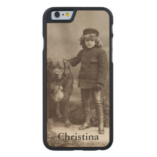 Child With Dog, C1885 Carved® Maple iPhone 6 Case