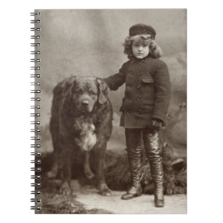 Child With Dog, C1885 Spiral Notebook