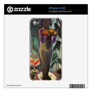 Child with goldfish glass - Paula Modersohn-Becker iPhone 4 Decal