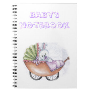 Child with lamb spiral note books