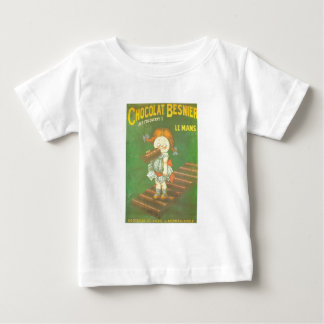 Child with large chocolate bAR French vintage ads Baby T-Shirt