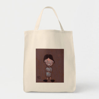 CHILD WITH LARGE HEAD AND BIG FEET TOTE BAG