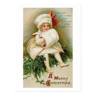 Child with Muff Post Card