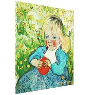 Child with Orange, 1890. Vincent van Gogh Stretched Canvas Prints