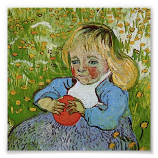 Child with Orange Van Gogh Fine Art Poster